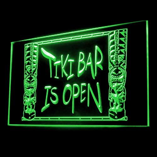 170072 Tiki Bar is Open Cocktail Tropical Vodka Display LED Light Sign (Best Vodka Based Cocktails)