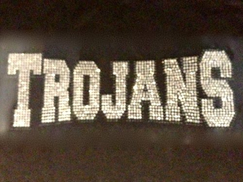Trojans Mascot Rhinestone Transfer Iron on
