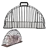 YOUDirect Cats Cage - Pet Cat Puppy Shower Cages Multi-functional Steel Wire Double Door Cats Cage Anti Scratch or Bite Cage with handle Grooming Washing Shower Bath Cage Helper Tool (S)