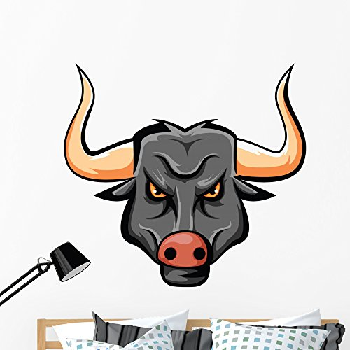 Wallmonkeys Bull Wall Decal Peel and Stick Graphic (48 in W x 46 in H) WM159889 by Wallmonkeys