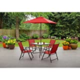 Mainstays Albany Lane 6-Piece Folding Seating Set: Red Review