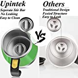[Update] Self Stirring Mug Auto Self Mixing Stainless Steel Cup for Coffee Tea Milk Hot Chocolate Shaker Mixing Mug for Home Office Kitchen Travel Cup Mug (450ml/15.2oz)-Green