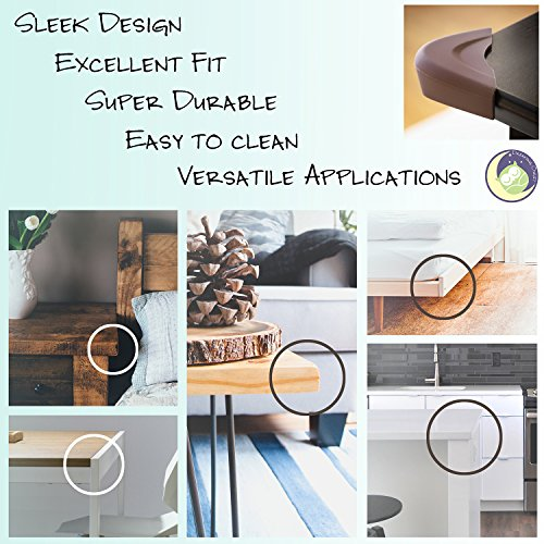Baby Proofing Silicone Soft Corner Guards [8 Pack] Dreaming Owlet | Sharp Corner Cover for Baby/Child Safety | Furniture/Table Corner Protectors | Child Proof Corner Bumpers | Choke-free | Self-stick by Dreaming Owlet (Image #5)