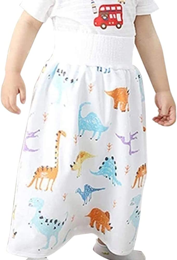 WAYAYA Comfy Childrens Diaper Skirt Shorts 2 in 1 Waterproof and Absorbent Shorts for Baby Toddler