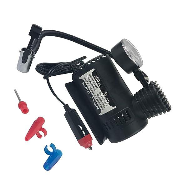 Amazon.es: Republe 12V 300PSI rápido Que infla el Coche eléctrico Compacto Mini compresor de Aire de la Bici de la Bomba para inflar con Aire del neumático ...