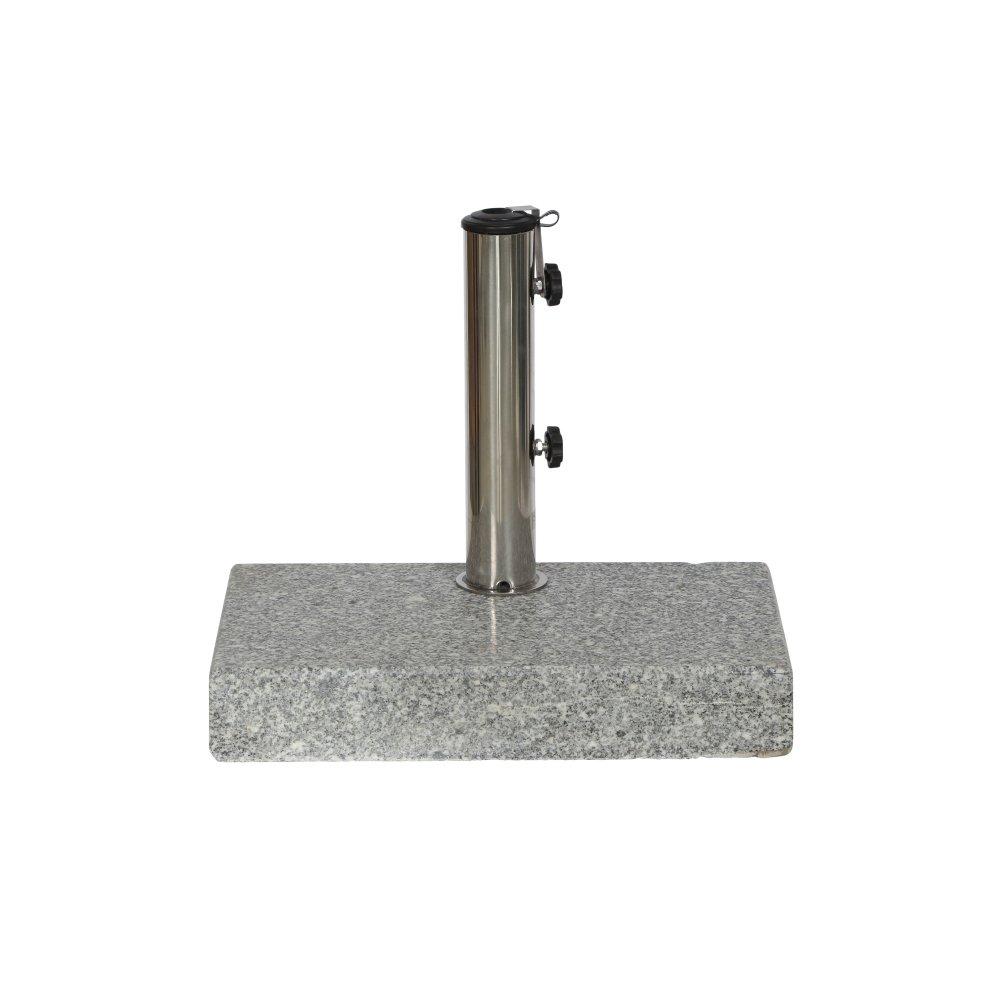 Siena Garden Schirmständer Granit, 45x28x7,5cm, Gestell: Granit, poliert in in poliert grau, Fläche: Granit in grau 95f1d9
