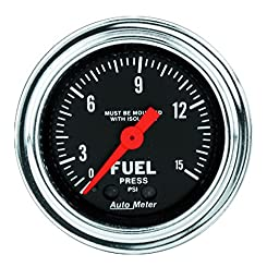 Auto Meter 2413 Traditional Chrome Mechanical Fuel Pressure Gauge