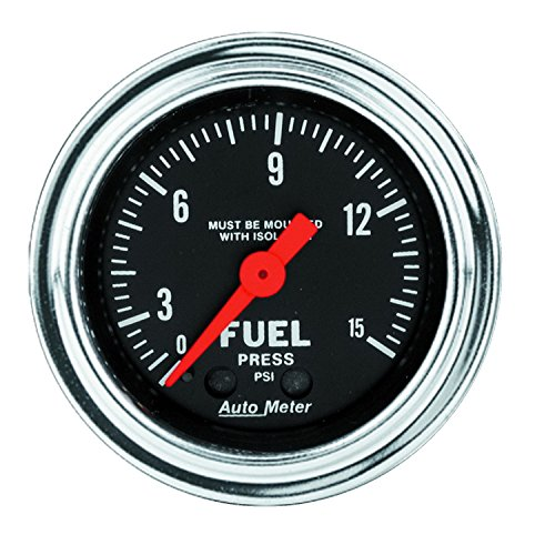 Auto Meter 2413 Traditional Chrome Mechanical Fuel Pressure Gauge