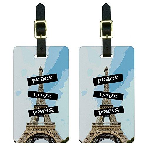 Peace Paris Luggage Suitcase Carry