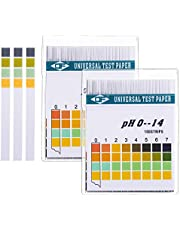 2 Pack (200Pcs) Universal pH Test Paper Strips for Test Body Acid Alkaline pH Level, Skin Care, Aquariums, Drinking Water, with 4 Testing Panels for Increased Accuracy, Measure Full Range 0-14