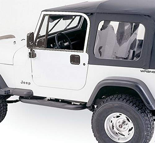 - RAMPAGE PRODUCTS 68035 Complete Top Frame & Hardware for 1976-1995 Jeep Wrangler & CJ7, with Full Steel Doors, Black Diamond w/Tinted Windows