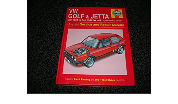Volkswagen Golf and Jetta (84 to 92) Service and Repair Manual (Haynes Service and Repair Manuals): Ian Coomber: 9781859601952: Amazon.com: Books
