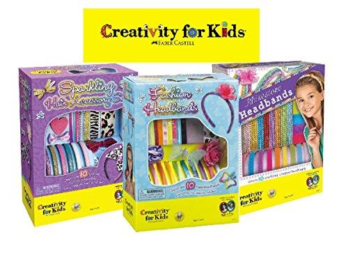 Creativity For Kids Headbands Gift Set Bundle - 3 Pack Includes Fashion Headbands, Rhinestone Headbands & Sparkling Hair Accessory Sets