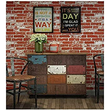 Haokhome 151009 Vintage Faux Brick Textured Wallpaper Roll