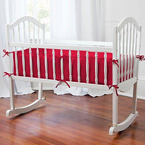 Carousel Designs Solid Red Cradle Bumper