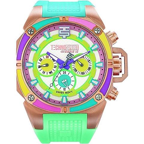 TechnoSport ts-100-1m Woman's Swiss chrono Watch plus extra strap (Gold Mercer Watch)