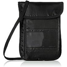 AmazonBasics RFID Travel Neck Stash Wallet, Black