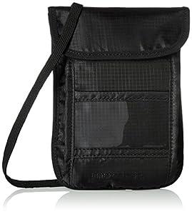 AmazonBasics RFID Blocking Travel Neck Sling Wallet, Black - (19 cm x 14 cm x 1.3 cm)