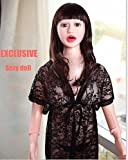 Inflatable Sex Love Doll - Blow Up Dolls with Holes Doggy Posture Life Size Sexy Girl Male Masturbator Vagina Anal Sex Toy for Men Wig Clothes random