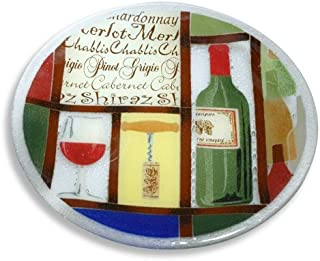 product image for Peggy Karr Handcrafted Art Glass Vino Plate, Round, 11-Inch