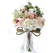 JACKCSALE Wedding Bouquet Bride Bridal Brooch Bouquet Bridesmaid Bouquet Valentine's Day Confession (D520)