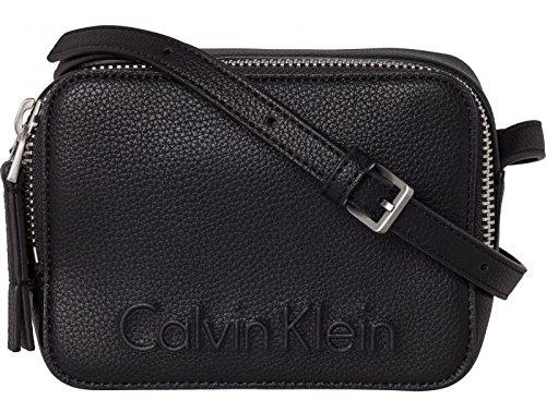 Calvin Klein Edge Zip Damen Cross Body Bag Schwarz Schwarz