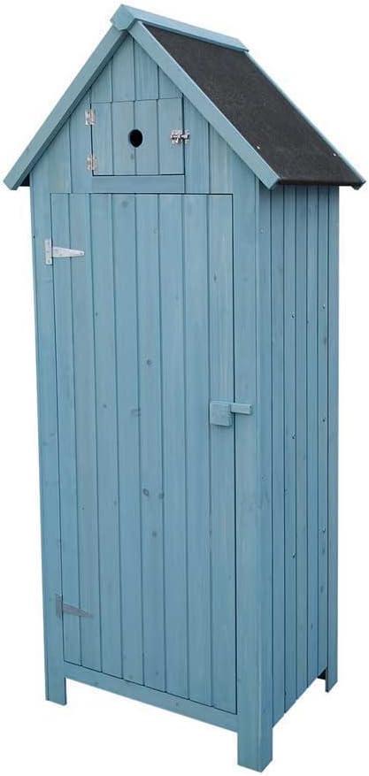 Armario para Jardin Cabanon - 77 x 54.5 x 179 cm - Azul Cielo: Amazon.es: Jardín