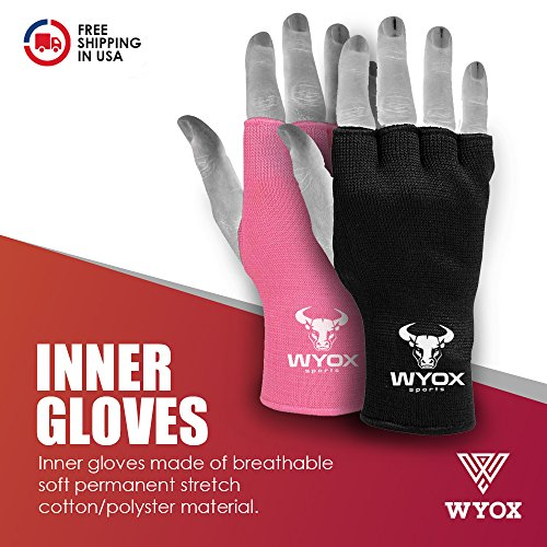 Wyox Boxing Inner Gloves Mitts Hand Wraps MMA Fist Protector Bandages Fingerless