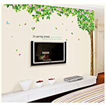 Oren Empower (2pc/set) Decorative Floral Tree Extra Large Wall Sticker (Finished size on wall - 245(w) x 200(h) cm)