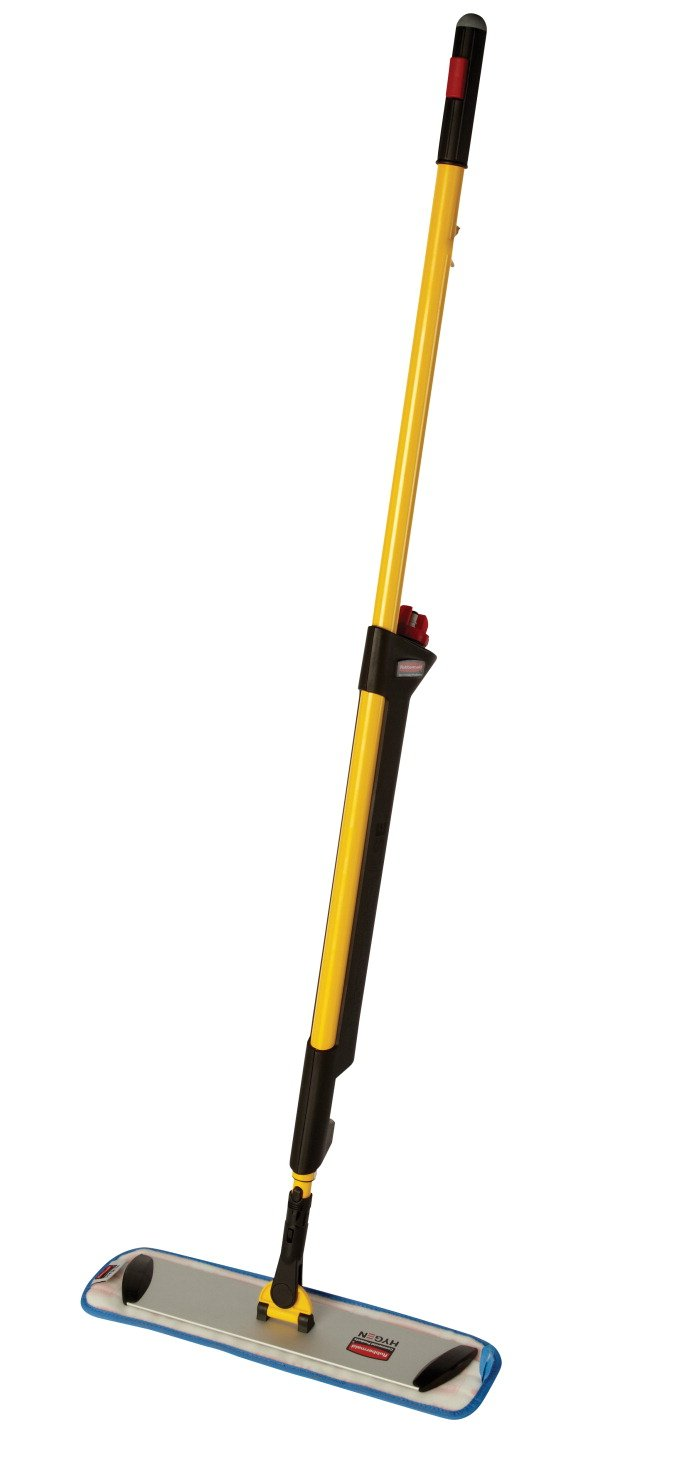 Rubbermaid Commercial 1835528 Products Pulse Microfiber Floor Cleaning System, Handle with Single-Sided Mop Frame by Rubbermaid Commercial