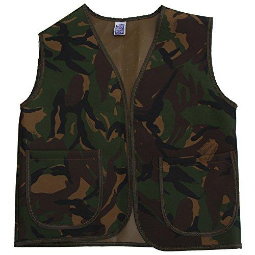 Camo Vest Costume (Kids Unisex Army Camo Vest, M/L)