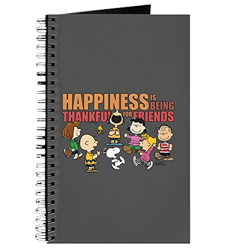 CafePress Peanuts Happiness is Friends Spiral Bound Journal Notebook, Personal Diary, Lined