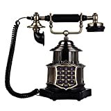 Sunhai Continental Antique Fixed Telephone Retro Metal Fuselage Home Landline