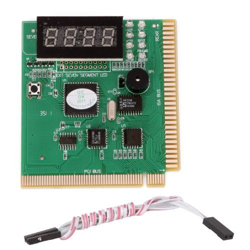 Test Pci Post Card Diagnostics (HDE 4-Digit PCI Motherboard Tester Diagnostic Analyzer Test Card Computer PC)