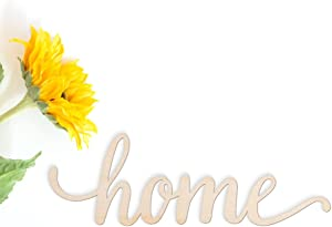 """Home Wood Sign Home Décor Wall Art Unfinished 12"""" x 4"""""""