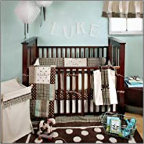 My Baby Sam Mad About Plaid 4 Piece Crib Bedding Set Blue