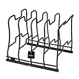 Kealive Kitchen Pan and Pot Organizer Rack: 5 Pans used in Horizontal and 4 Pans used in Vertical,Qualified Durable Wire Construction,9.8, 7.2 & 9.7Inch Kitchenware Cookware Pot Rack Cabinet Counterto