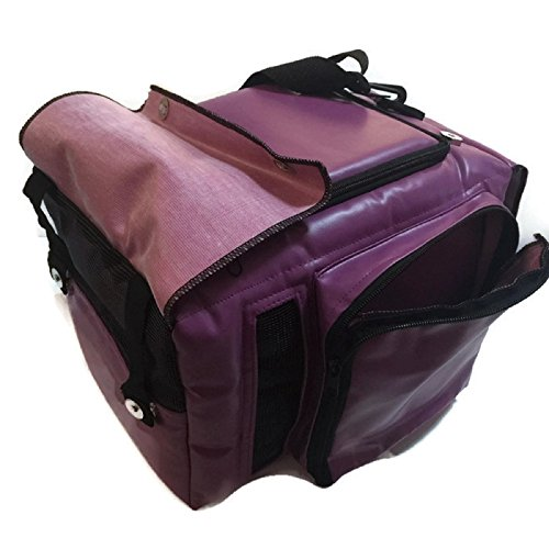 Hot Sale! PU Leather Thailand Classic Purple Style Puppy Kitten Sugar Glider Birds Prairie dog Chinchillas Small Pet Travel Cage Shoulder Bag Kennel Carrier By Polar Bear's Republic