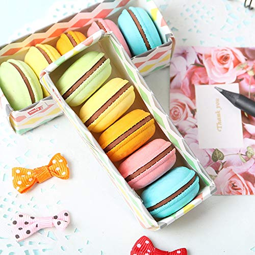 Max Corner Macaron Rubber Eraser, Novelty Cute Colorful Pencil Erasers 5 Pcs School Stationery Supplies
