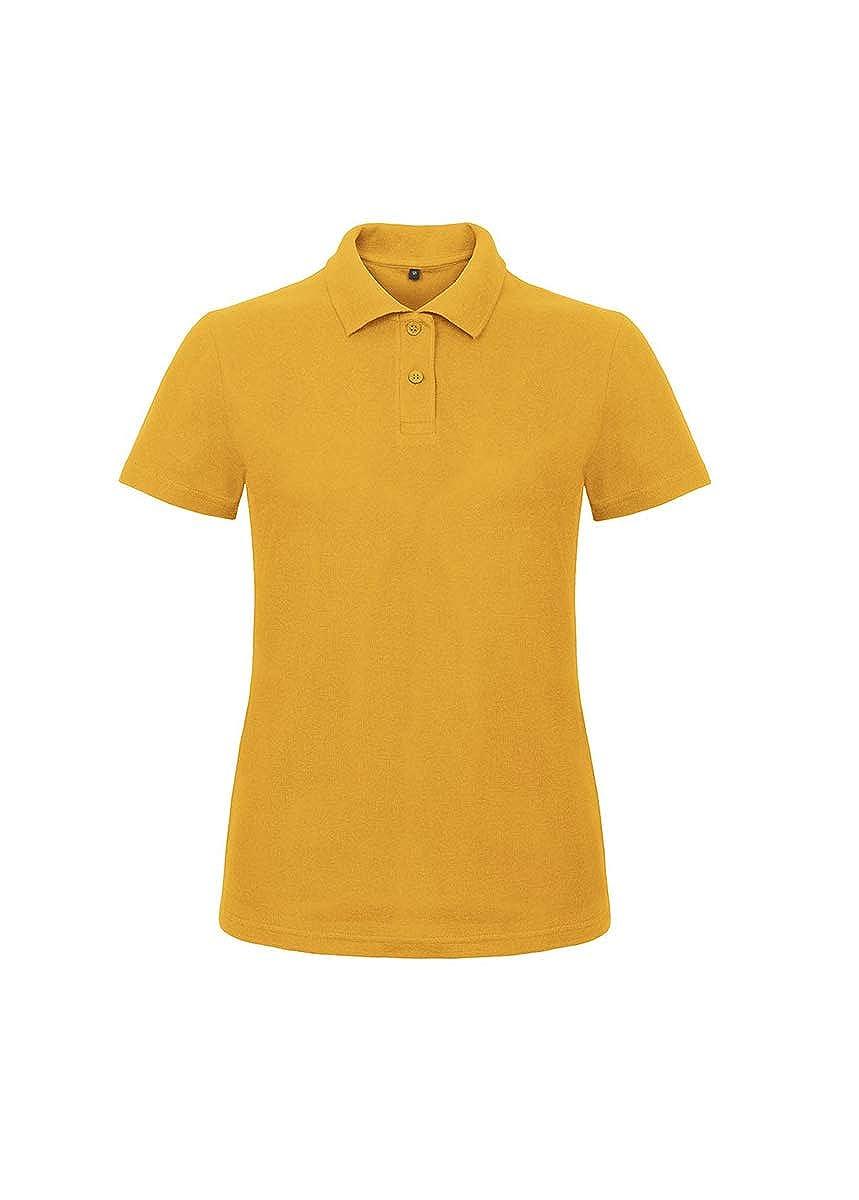 fe37c81e7273 Polo da Lavoro Donna T-Shirt Manica Corta con Colletto Cotone piquè B&C ID. 001 Donna Abbigliamento