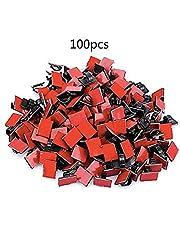 Rlsmoto لاصق كابل مشابك الأسلاك منظم كابل السيارة حبل التعادل حامل الأسود 100 قطعة