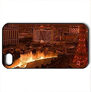 Amazing Las Vegas - Case Cover for iPhone 4 and 4s (Skyscrapers Series, Watercolor style, Black)