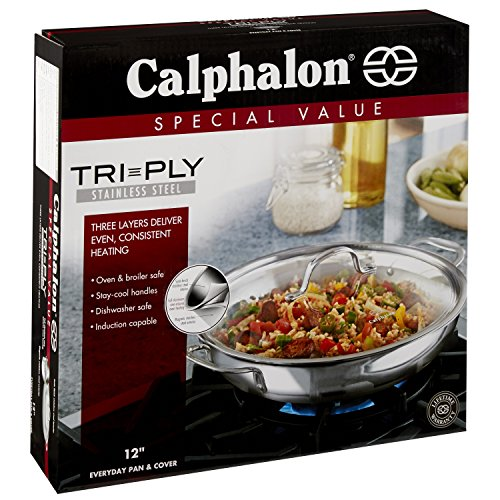 Calphalon Tri Ply Stainless Steel Cookware Everyday Pan