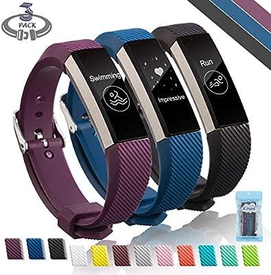Fitbit Alta HR Correa, Digitek TPU Soft Silicona Adjustable Reemplazo Banda Accesorio SmartWatch Band de Reloj Deporte Correa De Repuesto Para Pulsera ...