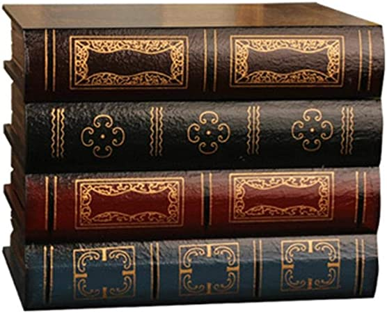 Vintage Crafts Arts European Style Home Bookshelf Decor Retro Fake Box Book