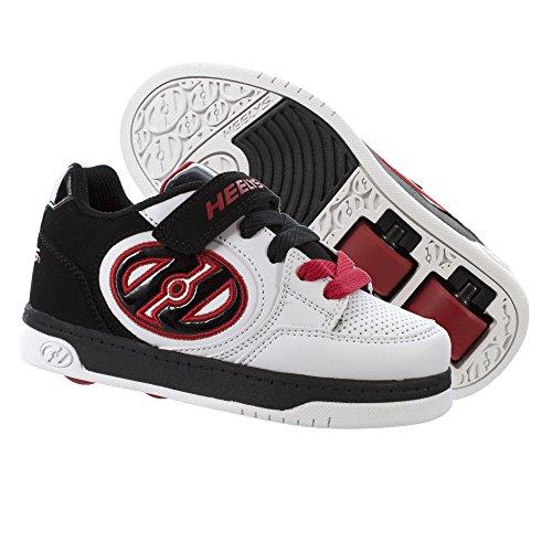 Heelys X2 Plus, Zapatillas Unisex Niños Blanco (White / Black / Red)
