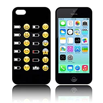 Etui Battery Emoji Faces En Silicone Tpu Pour Apple Iphone 5c