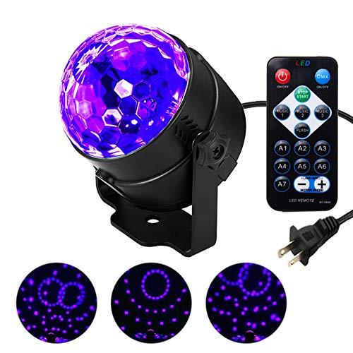 XUNATA Remote Control LED UV Black Light 3W