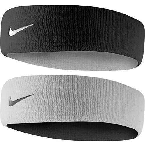 (Nike Dri-Fit Home & Away Headband (One Size Fits Most, White/Black) )