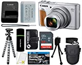 Canon PowerShot SX740 HS Digital Camera (Silver) with 20MP, 4K HD Video, 40x Optical + 40x Digital Zoom, Wi-Fi, Bluetooth and 3.0″ Tilt LCD + 64GB Card + Reader + Case + Tripod + Accessories Bundle Review